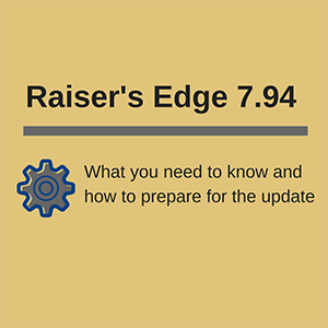 Raiser's Edge 7.94 Update