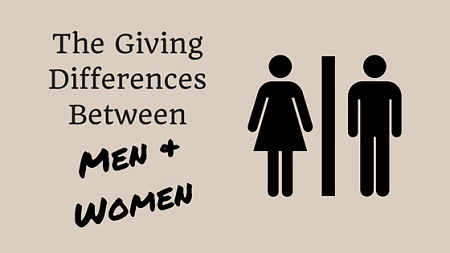 giving differences between men and women