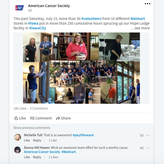 American Cancer Society - Social Media posts