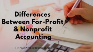 differences between nonprofit and for profit accounting
