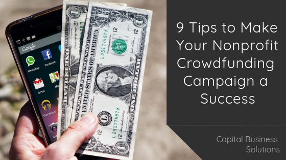 Tips to Help You Run a Successful Crowdfunding Campaign for your Nonprofit