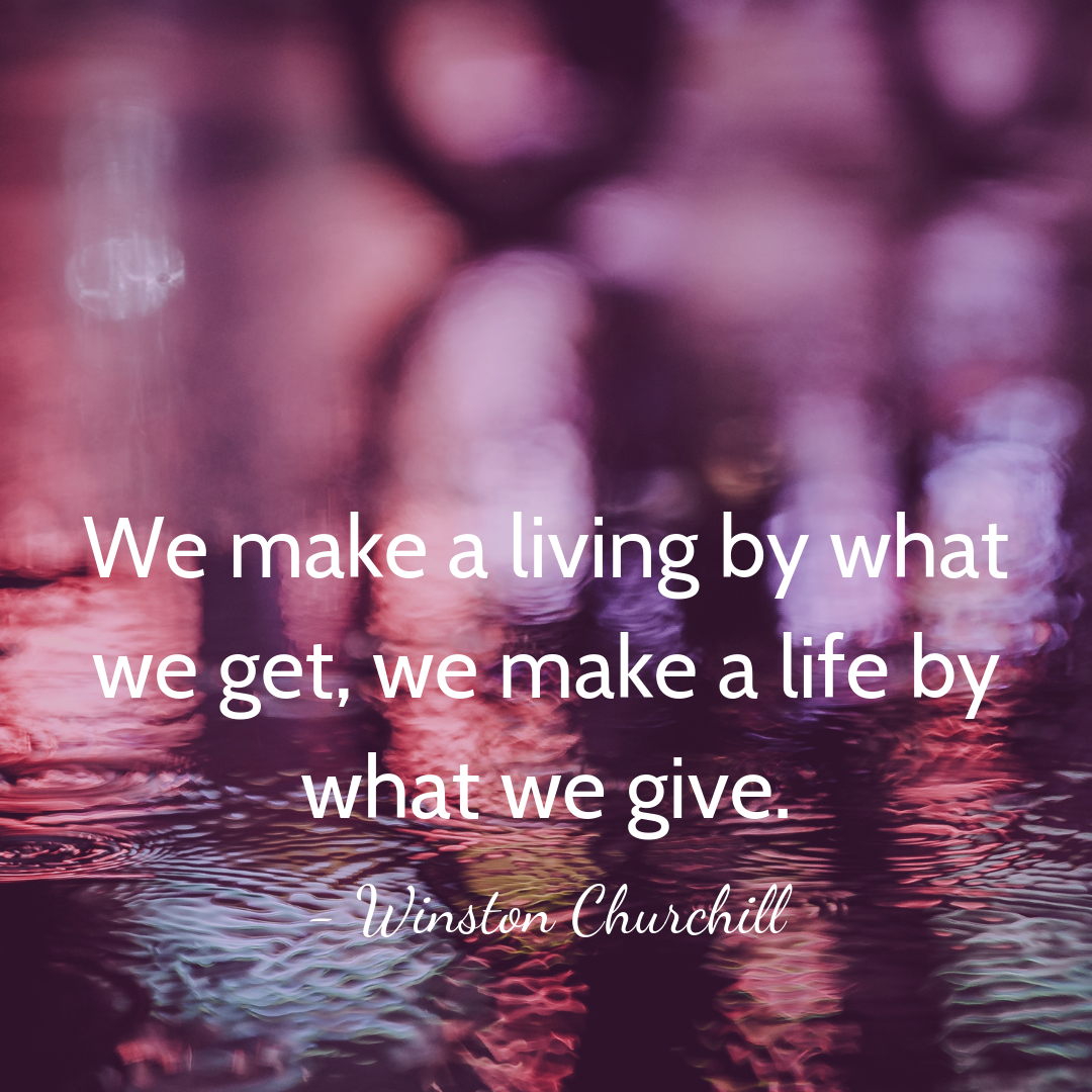 Inspirational quotes about giving for non profits