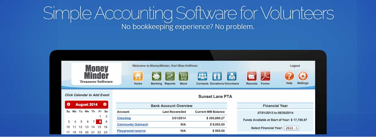 nonprofit accounting software by MoneyMinder