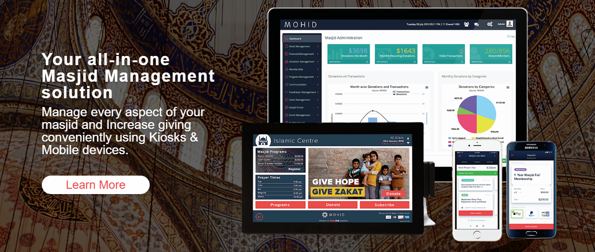 nonprofit accounting software for Masjid management