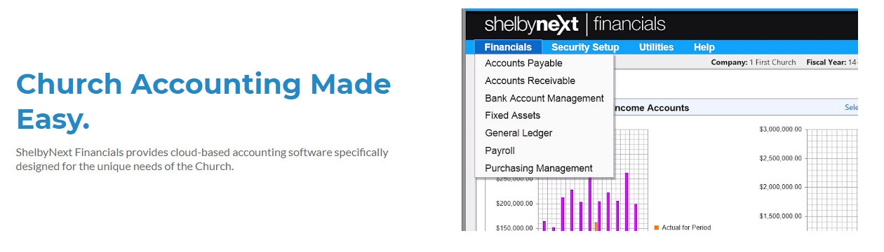 church accounting software by shelbynext