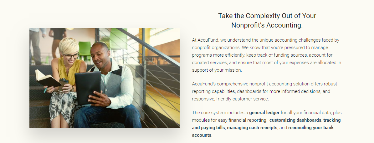 nonprofit accounting software by accufund