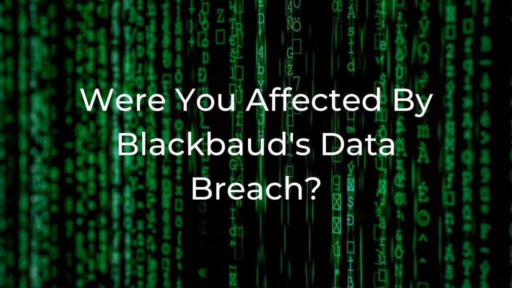 2020 Blackbaud Security Breach